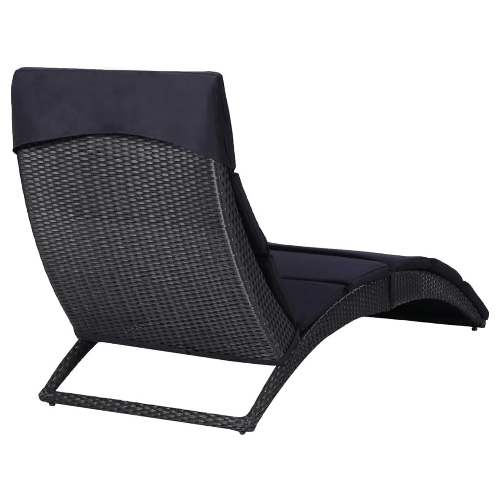 Picture of Patio Sunbed - Black