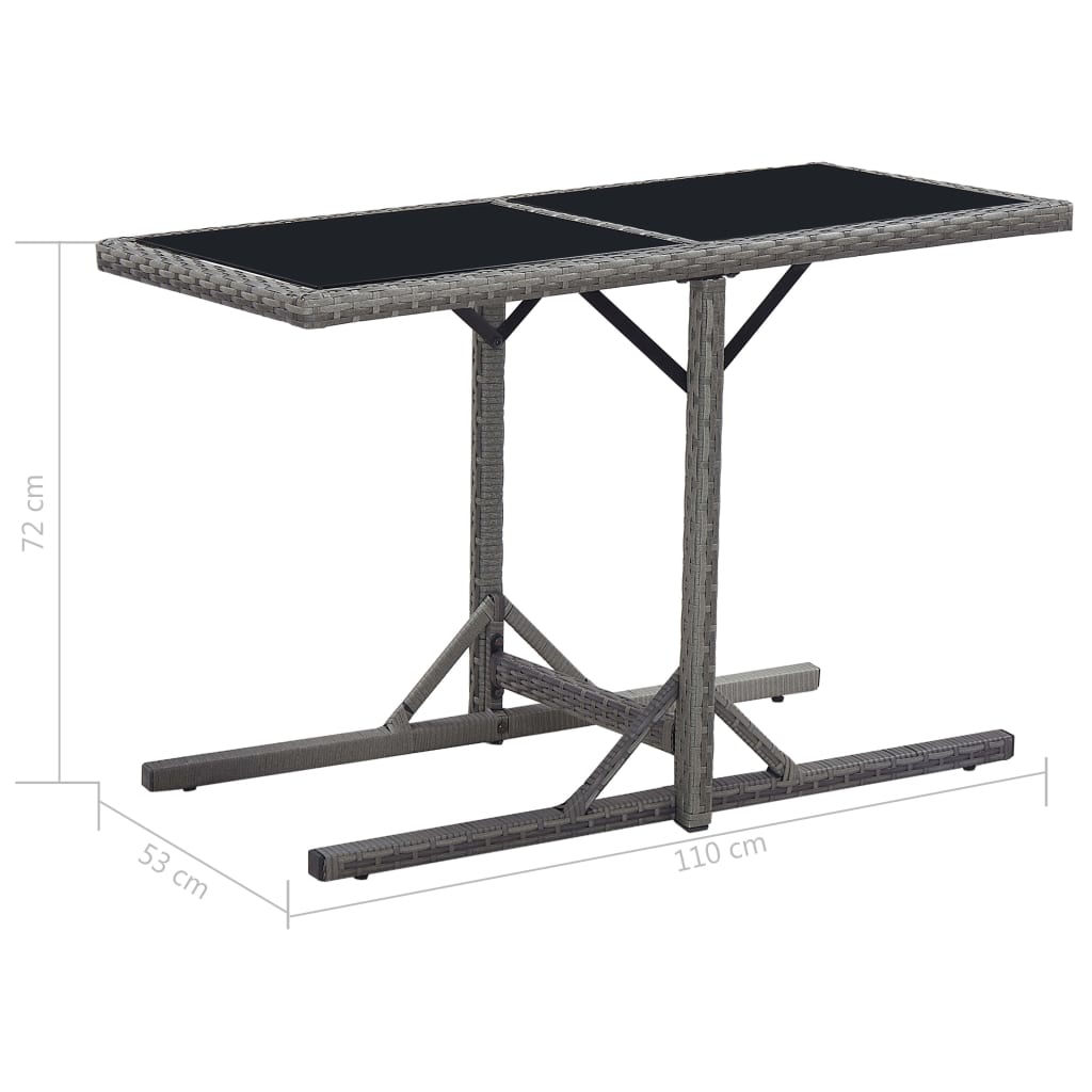 """Picture of Outdoor Patio Table - 43"""" Black"""