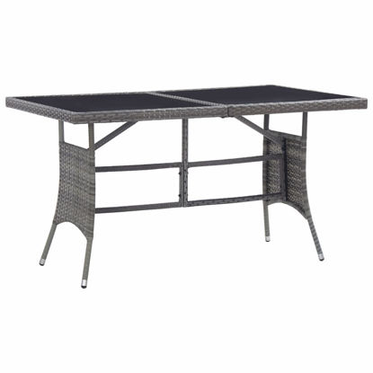 "Picture of Outdoor Table 55"" Gray"