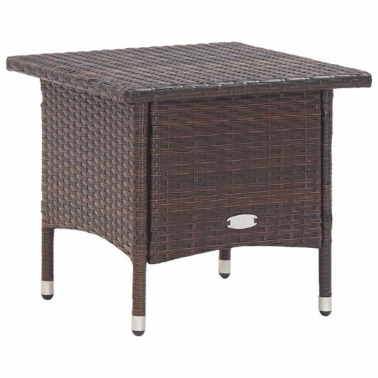 "Picture of Outdoor Tea Table 19"" Brown"