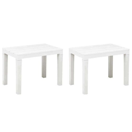 Picture of Outdoor Benches - 2 pcs White