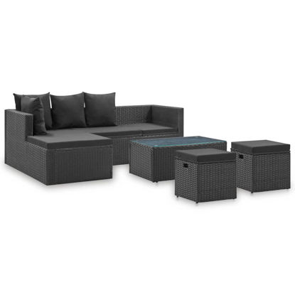 Picture of Outdoor Furniture Set - Black 4 pc