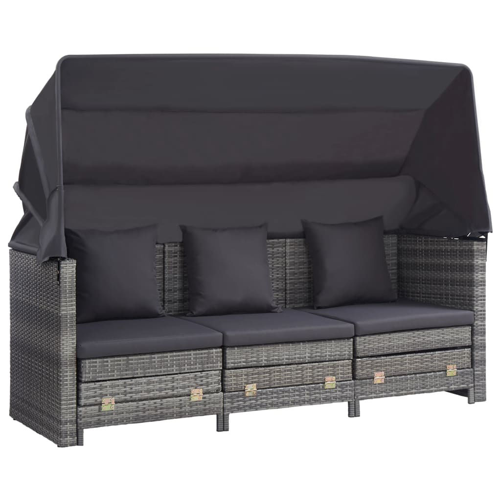 Picture of Outdoor 3-Seater SunBed - Gray
