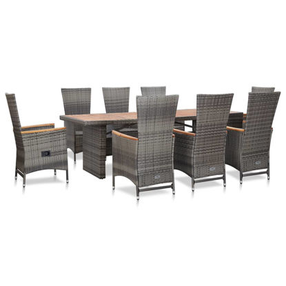 Picture of Outdoor Dining Set - Gray 9 pc