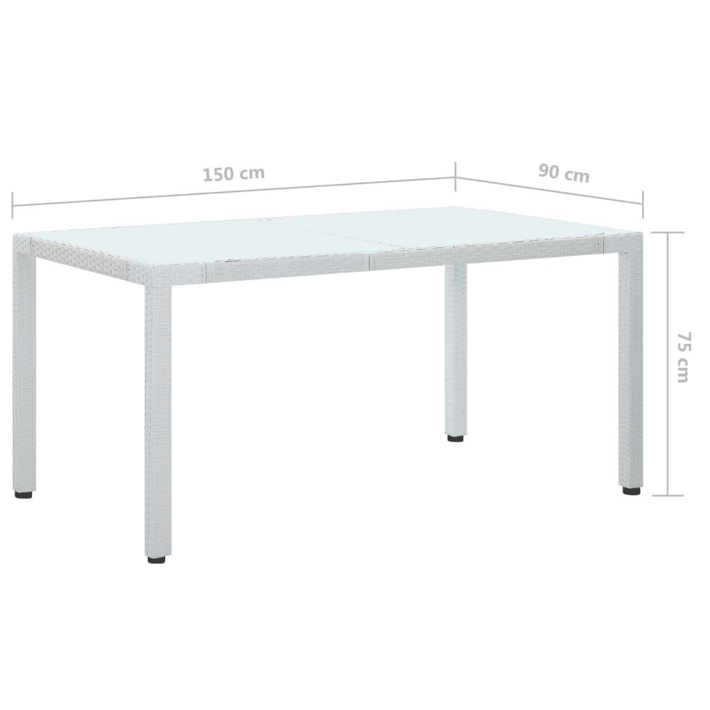 "Picture of Outdoor Patio Table - 59"" White"