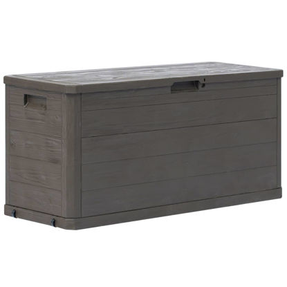 Picture of Outdoor Garden Storage Box 74 gal - Brown