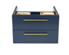 """Picture of Lucera 24"""" Royal Blue Wall Hung Vessel Sink Modern Bathroom Cabinet"""