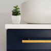 "Picture of Lucera 24"" Royal Blue Wall Hung Vessel Sink Modern Bathroom Vanity w/ Medicine Cabinet"
