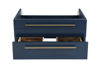 "Picture of Lucera 30"" Royal Blue Wall Hung Undermount Sink Modern Bathroom Cabinet"