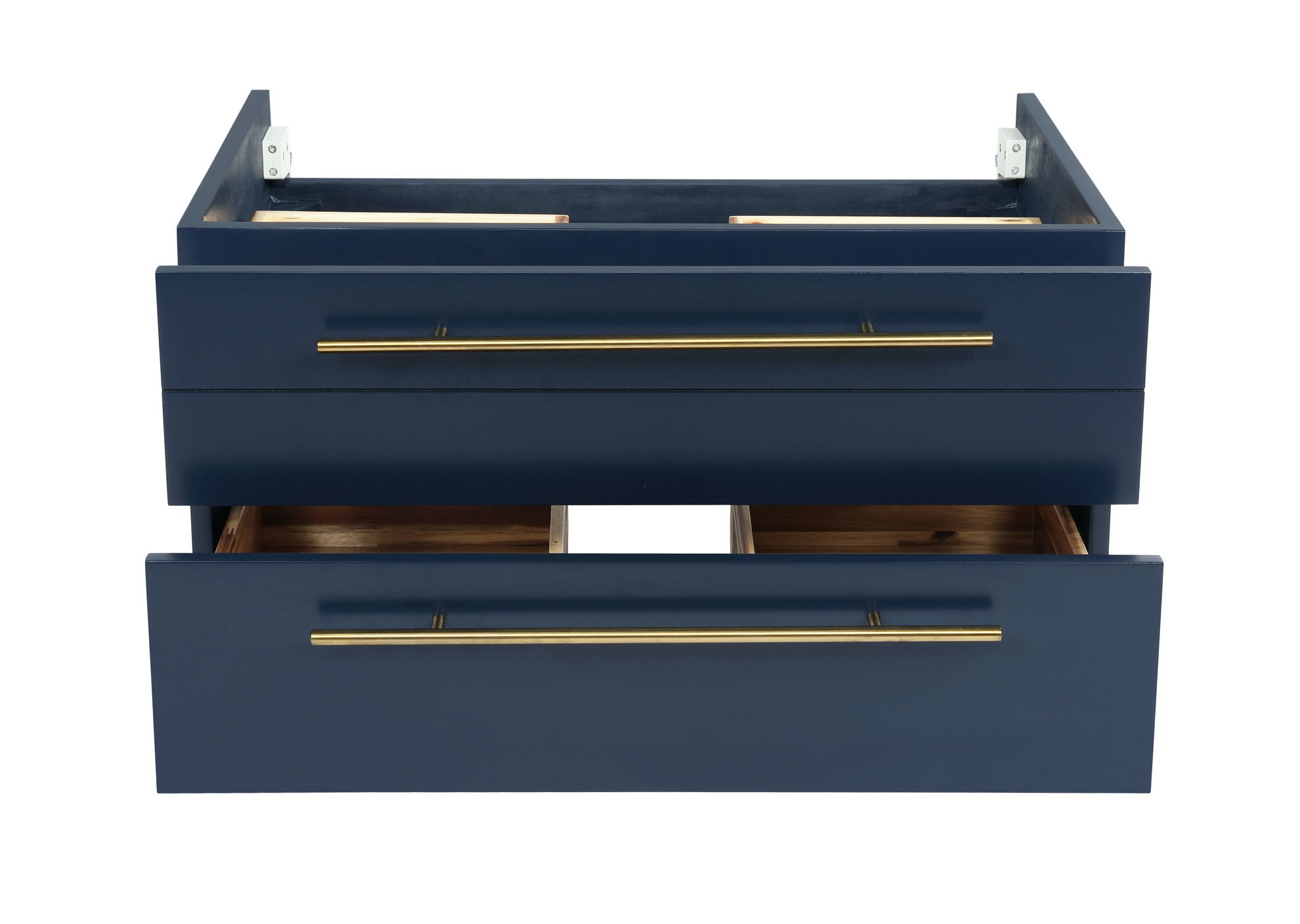 """Picture of Lucera 30"""" Royal Blue Wall Hung Vessel Sink Modern Bathroom Cabinet"""