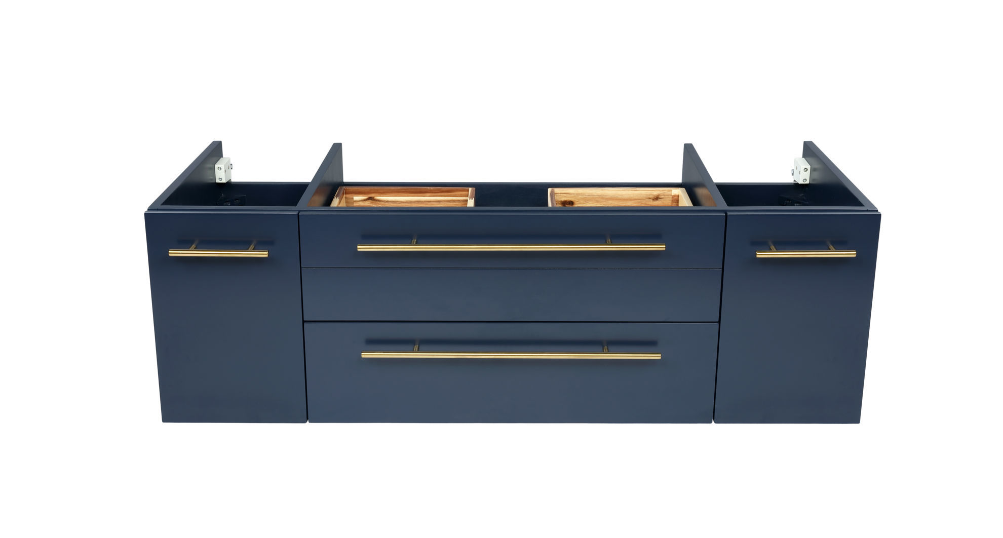 """Picture of Lucera 42"""" Royal Blue Wall Hung Vessel Sink Modern Bathroom Cabinet"""