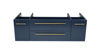 """Picture of Lucera 48"""" Royal Blue Wall Hung Undermount Sink Modern Bathroom Cabinet"""