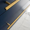 """Picture of Lucera 72"""" Royal Blue Wall Hung Double Undermount Sink Modern Bathroom Cabinet"""