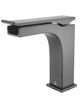 Picture of Single Hole Waterfall Bathroom Faucet - Gun Metal