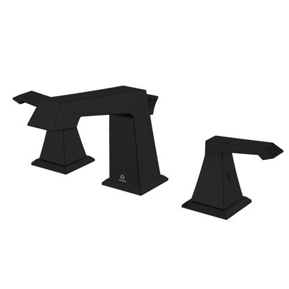 """Picture of 3 Hole 8"""" Widespread Bathroom Faucet - Matte Black"""