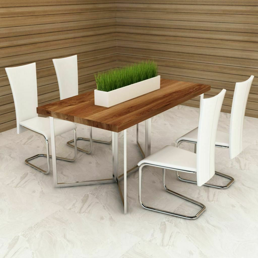 Picture of Kitchen Dining Chairs - Set of 4 White