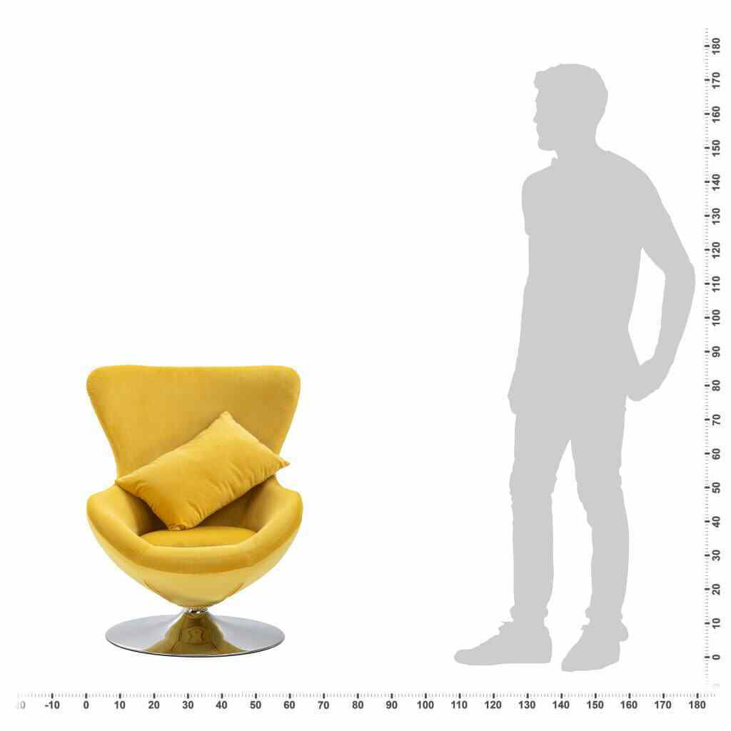 Picture of Living Room Cushion Chair - Yellow