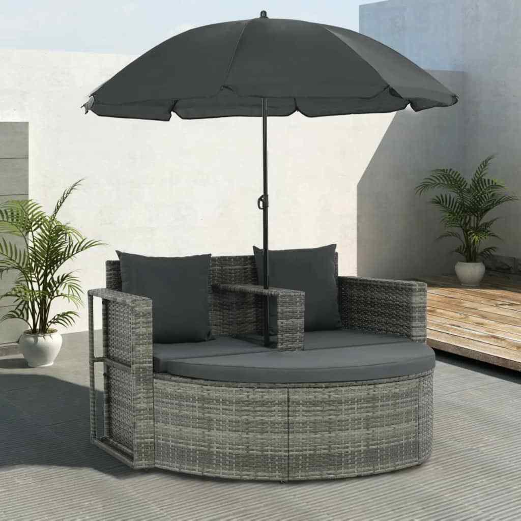 Picture of Outdoor Patio Sofa with Umbrella