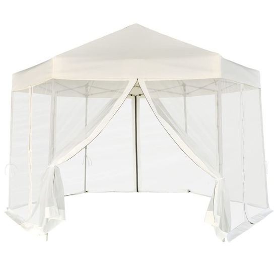Picture of Outdoor Pop Up Tent with Walls - Cream White