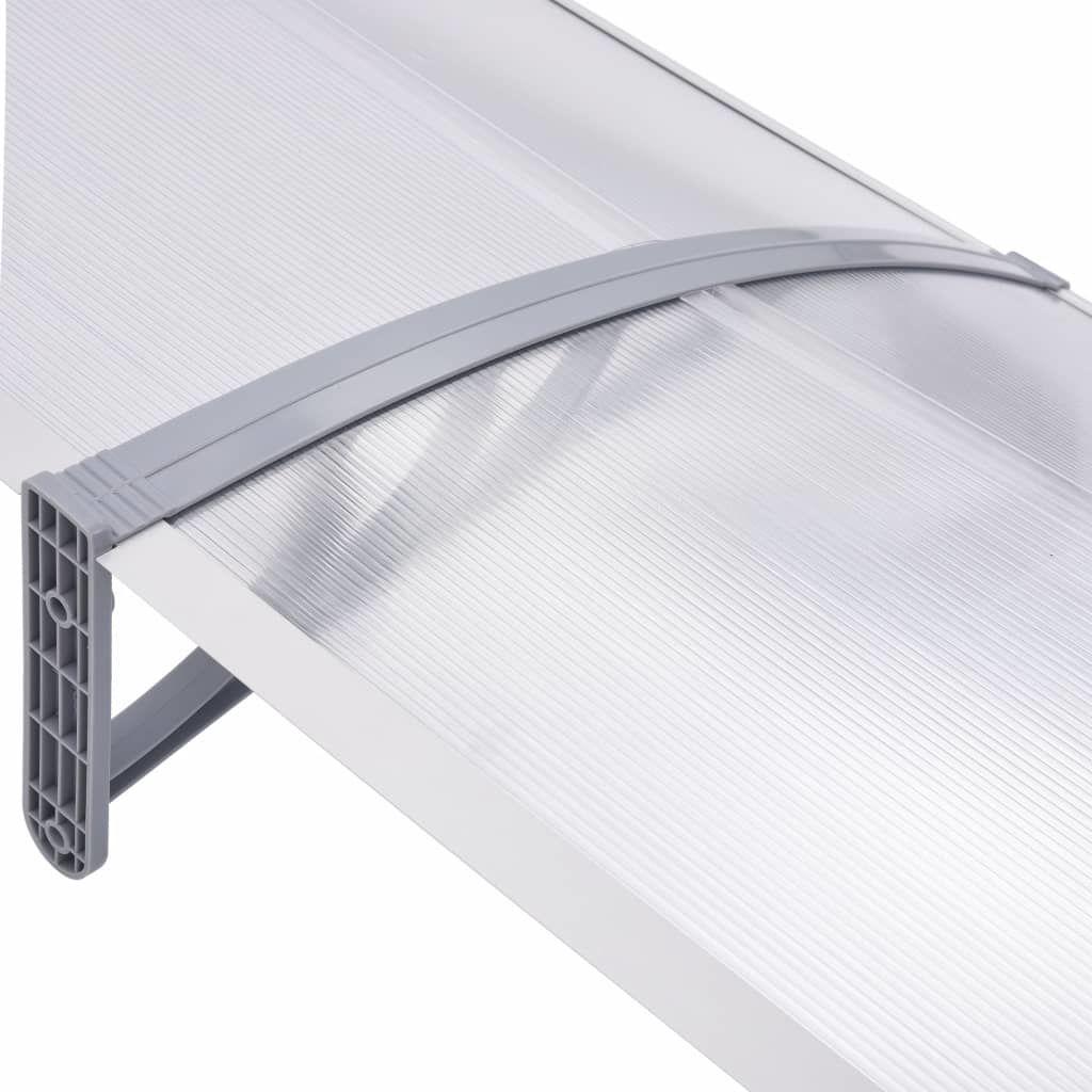 """Picture of Outdoor Door Canopy 118"""" - Gray Transparent"""