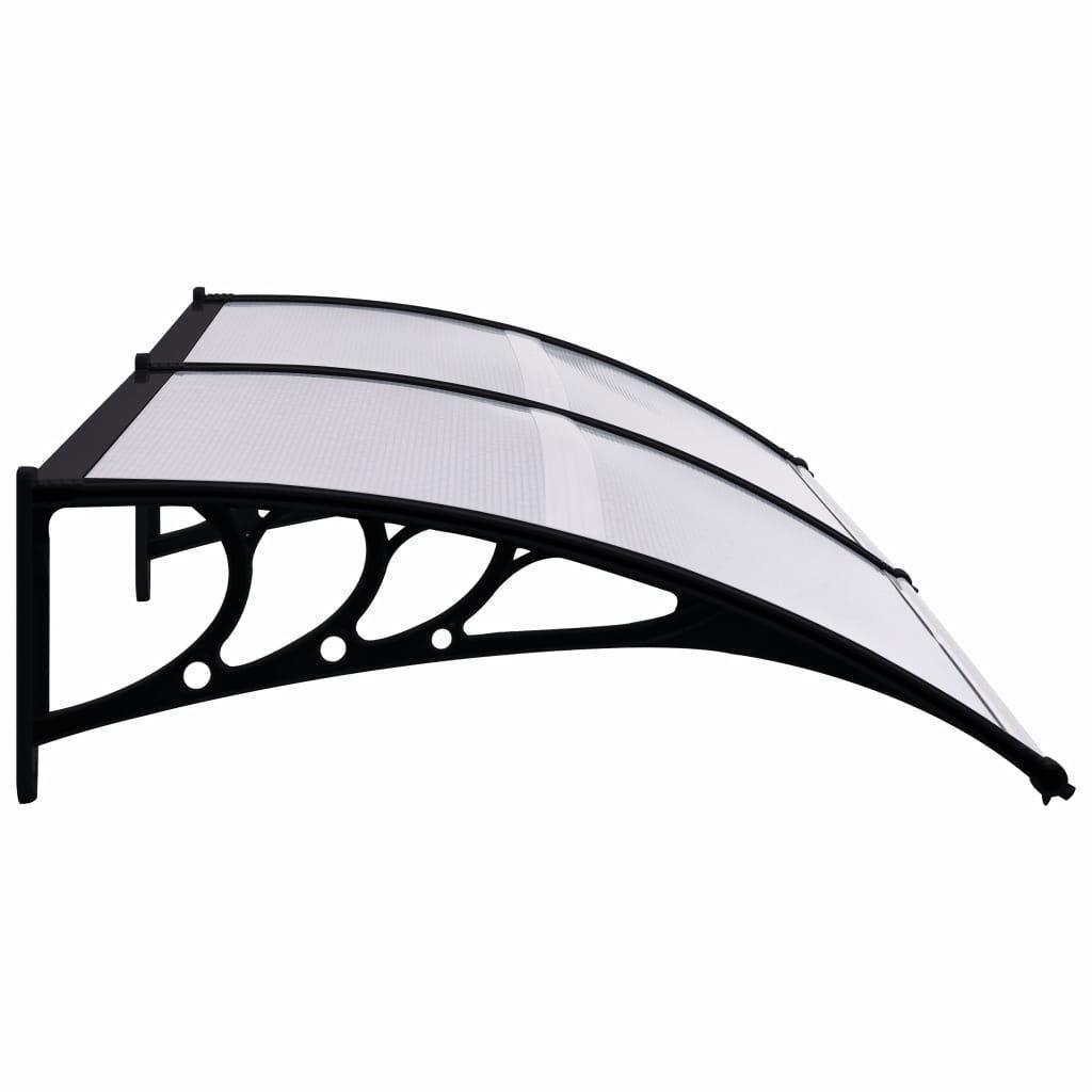 """Picture of Outdoor Door Canopy 94"""" - Black Transparent"""