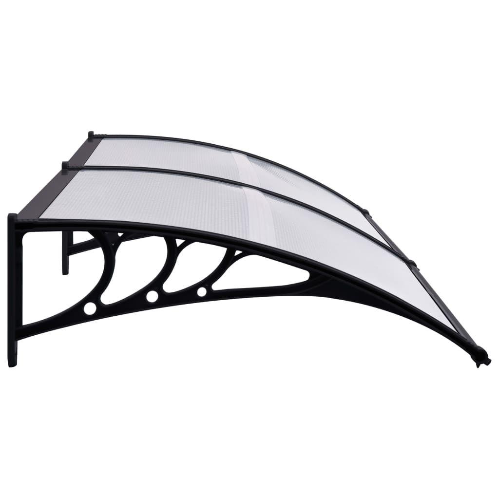 """Picture of Outdoor Door Canopy 78"""" - Black Transparent"""