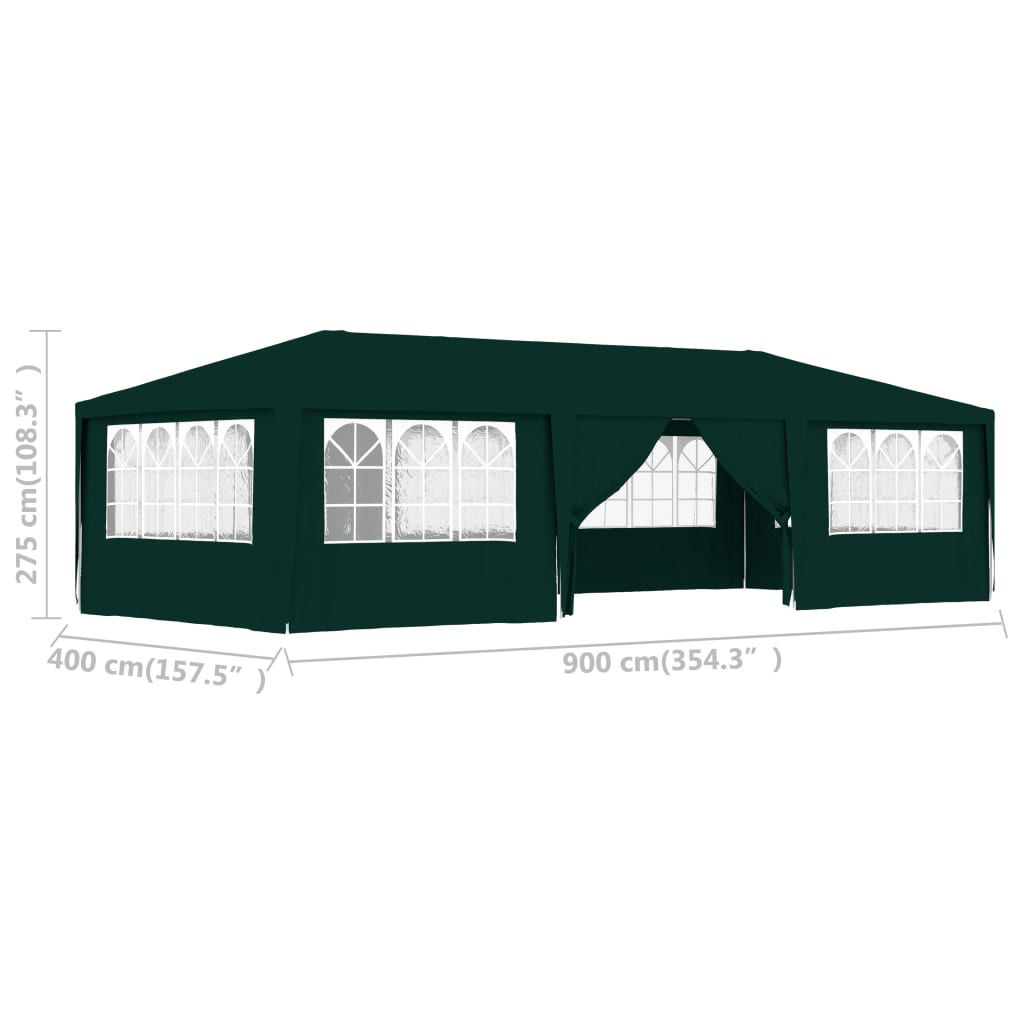 Picture of Outdoor Large Gazebo Tent with Walls 13' x 29' - Green