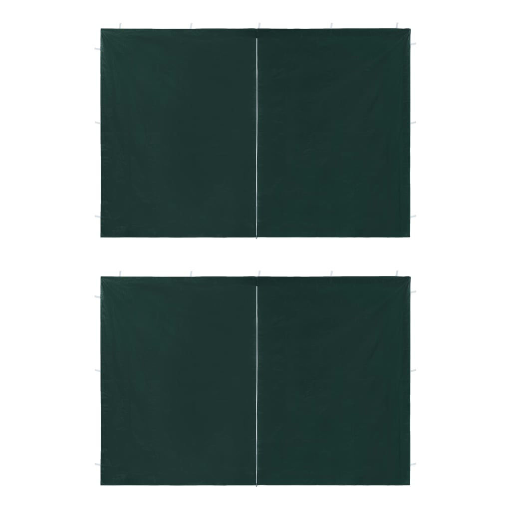 Picture of Outdoor Tent Sidewalls with Zipper - 2 pc Green