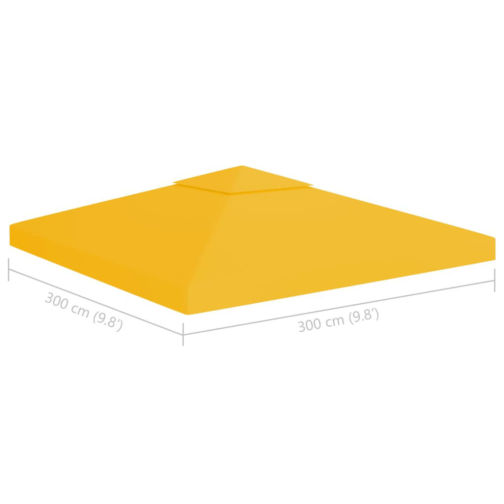 Picture of Outdoor 10' x 10' Top Replacement Tent Gazebo 2-Tier - Yellow