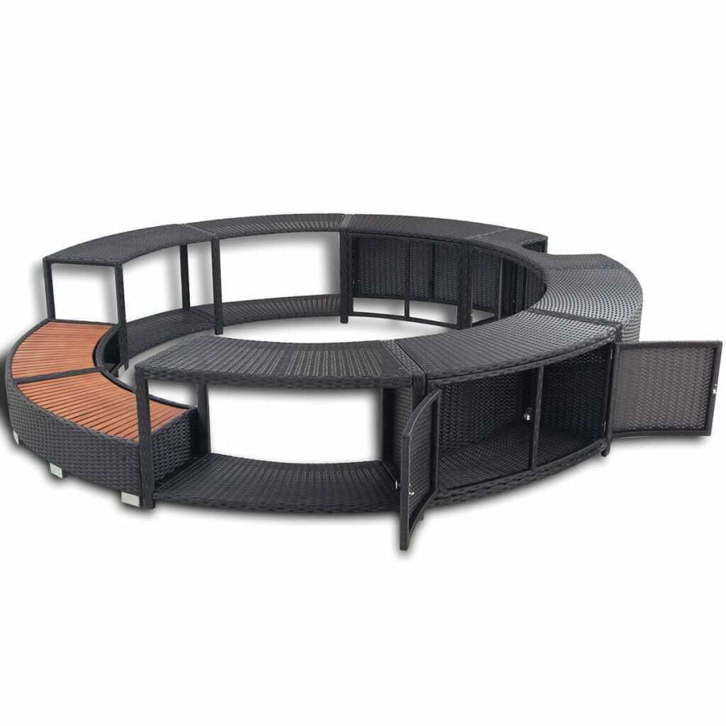 Picture of Outdoor Hot Tub Surround - Black