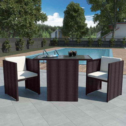 Picture of Outdoor Dining Bar Set - Brown
