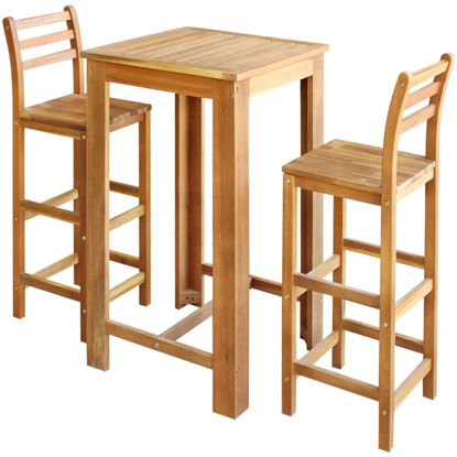 Picture of Wooden Bar Table with Chairs - 3pc