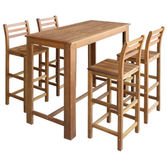 Picture of Wooden Bar Table with Chairs - 5pc