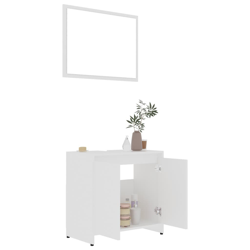 """Picture of 23"""" Bathroom Furniture Set with Mirror - White"""