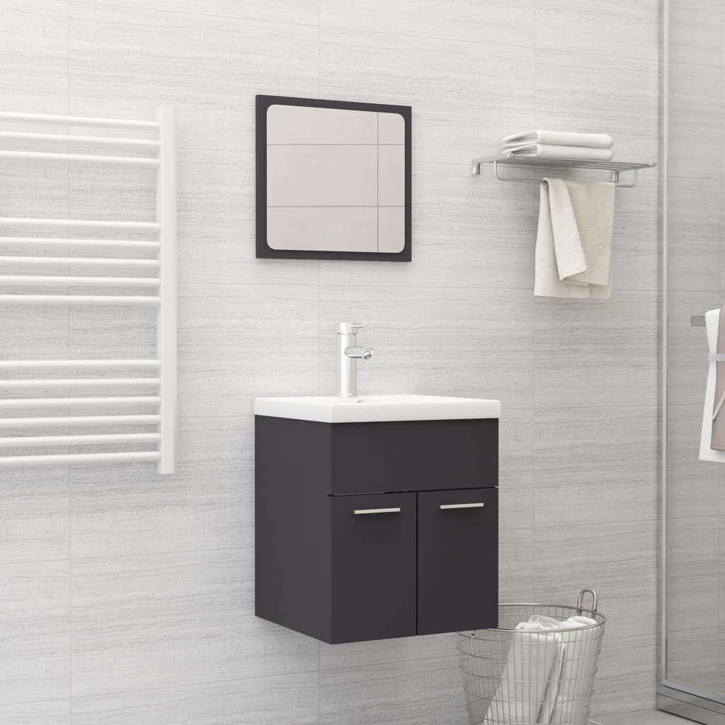 """Picture of 15"""" Bathroom Furniture Set - Gray"""