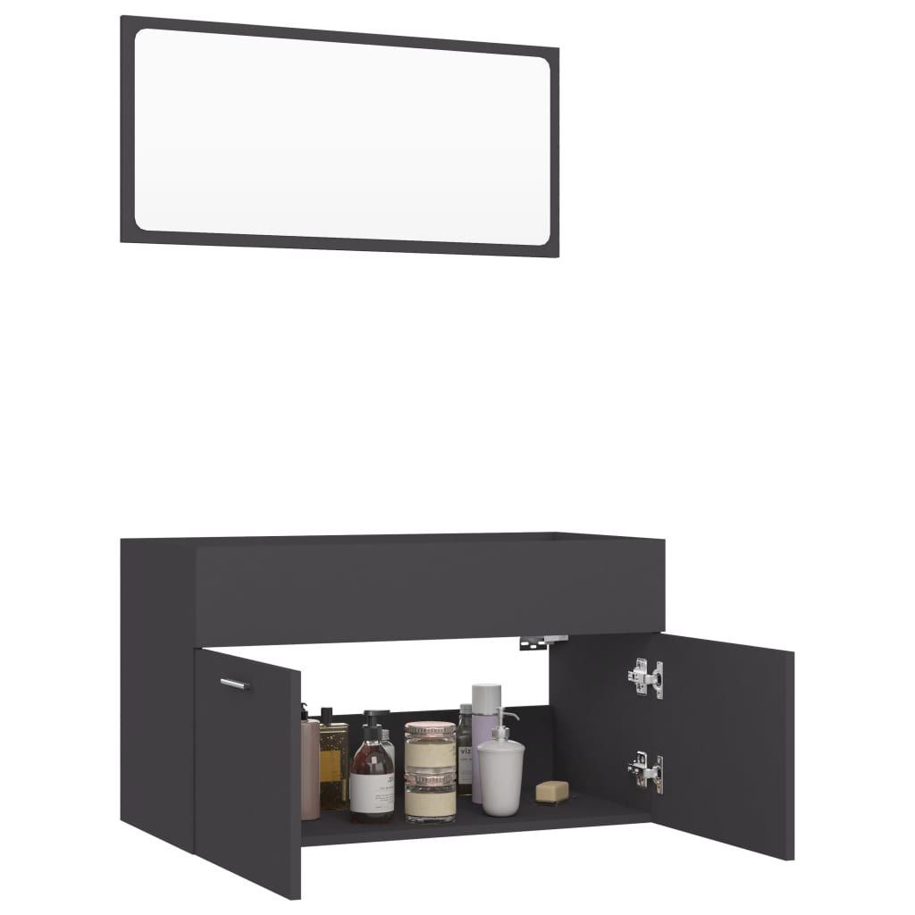 """Picture of 31"""" Bathroom Furniture Set - Gray"""