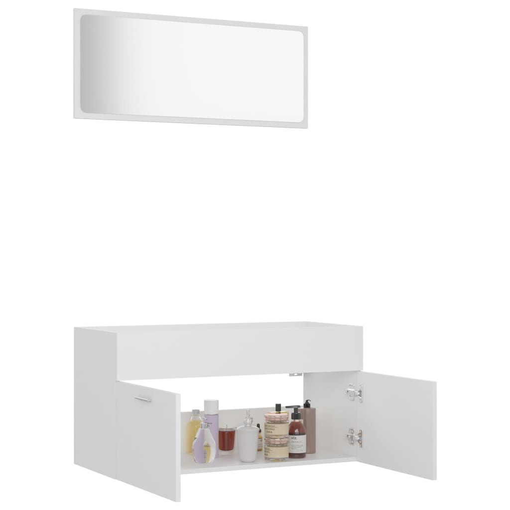 """Picture of 35"""" Bathroom Furniture Set with Mirror - White"""