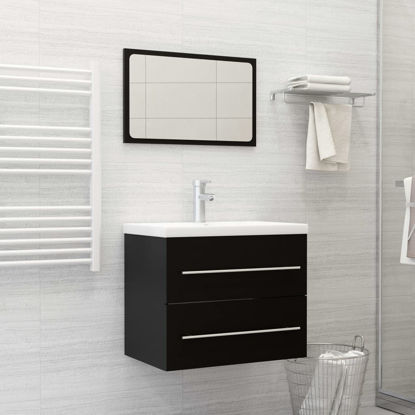 """Picture of 23"""" Bathroom Furniture Set with Mirror - Black"""