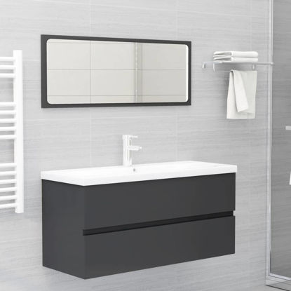 """Picture of 39"""" Bathroom Furniture Set with Mirror - Gray"""