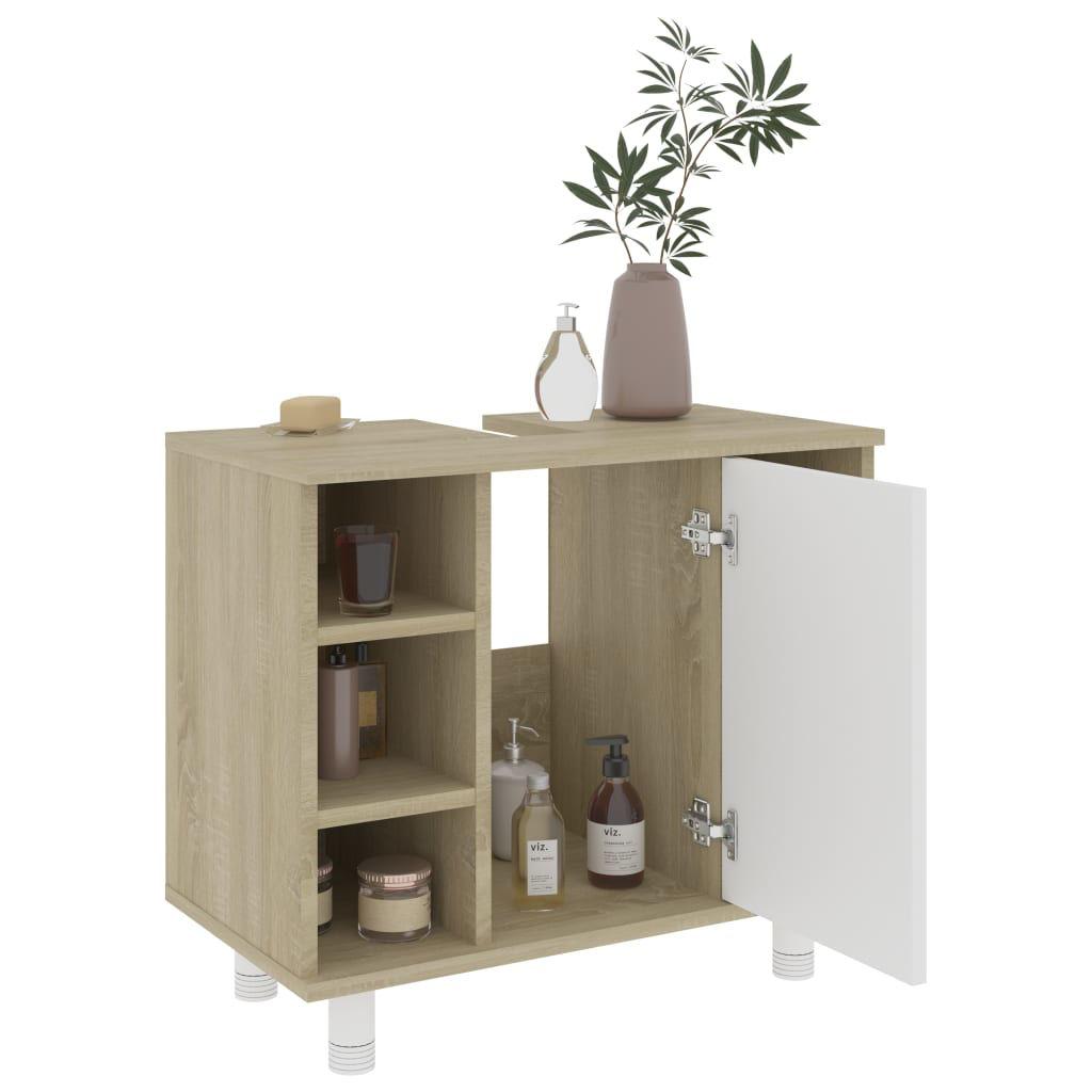 "Picture of 31"" Bathroom Furniture Set - 3 pc White and Sonoma Oak"