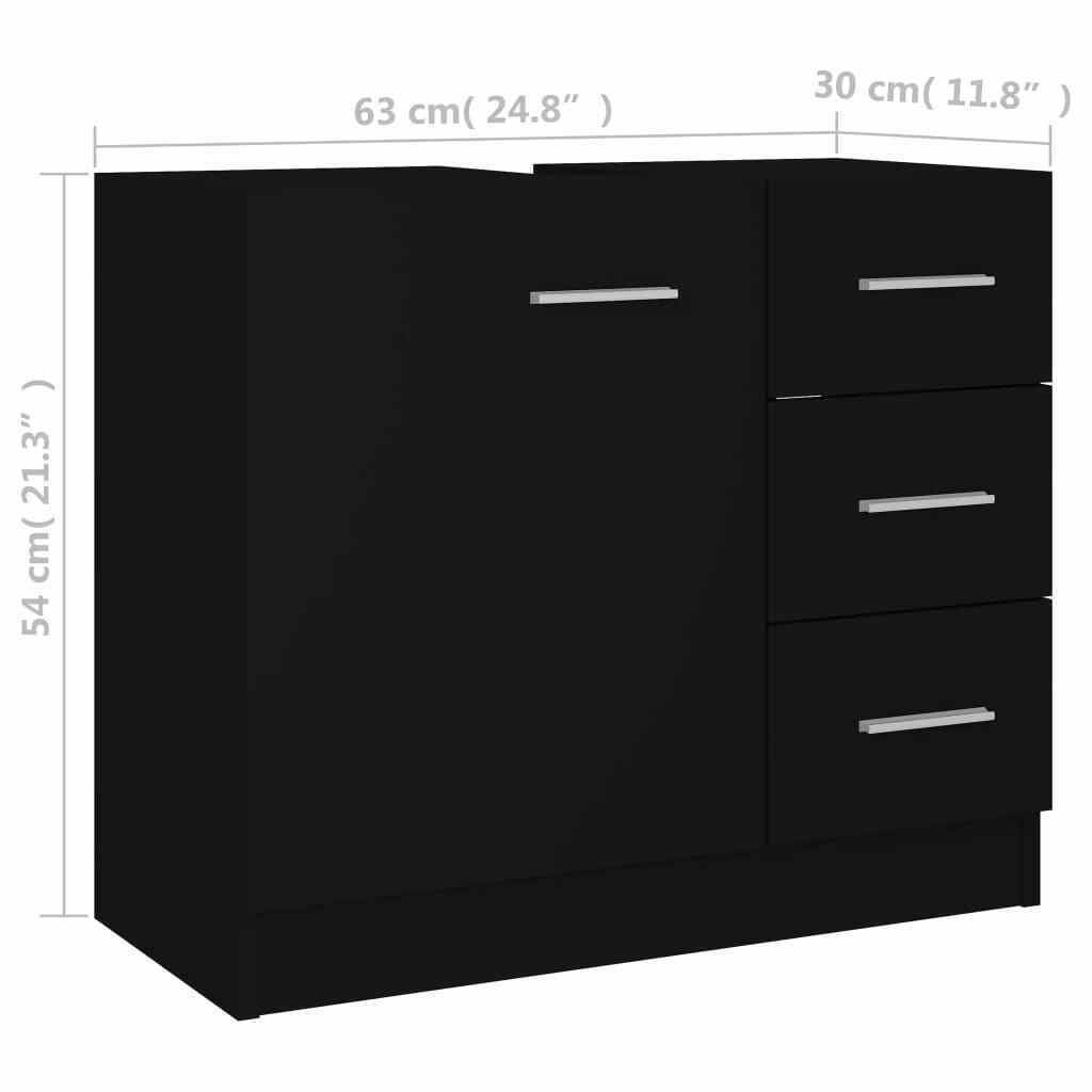 """Picture of 24"""" Vanity Cabinet - Black"""