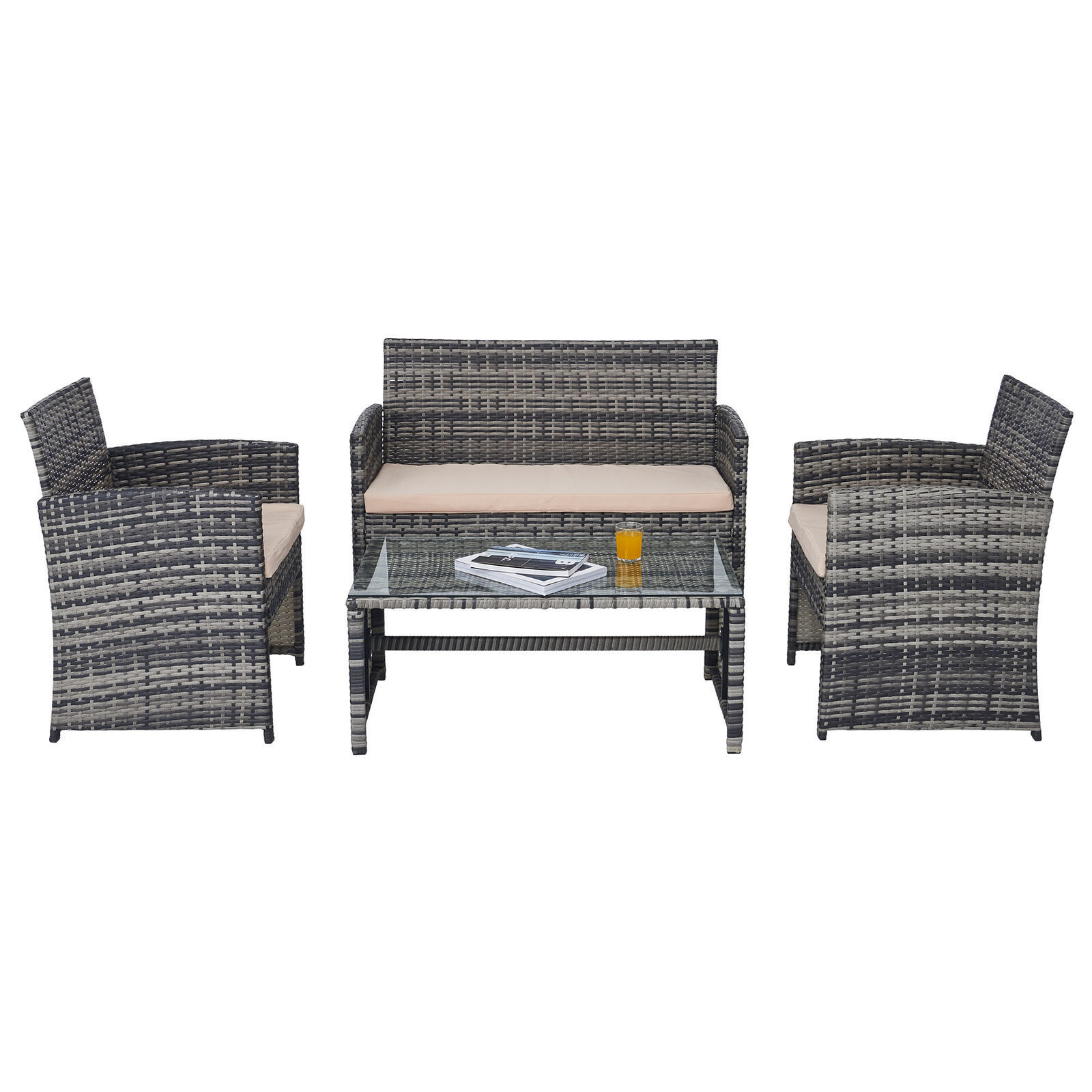 Picture of Outdoor Furniture Set - 4 pc Gray