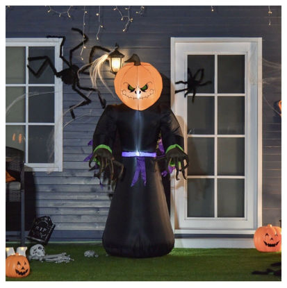 Picture of Inflatable Pumpkin Reaper with LED Light
