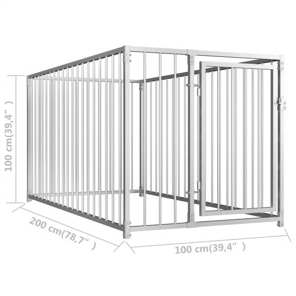 Picture of Outdoor Dog Kennel 3'