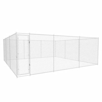 Picture of Outdoor Galvanized Steel Dog Kennel - 1.5'