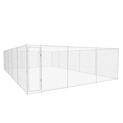 Picture of Outdoor Galvanized Steel Dog Kennel - 2.6'