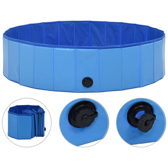 Picture of Foldable Dog Swimming Pool - Blue PVC
